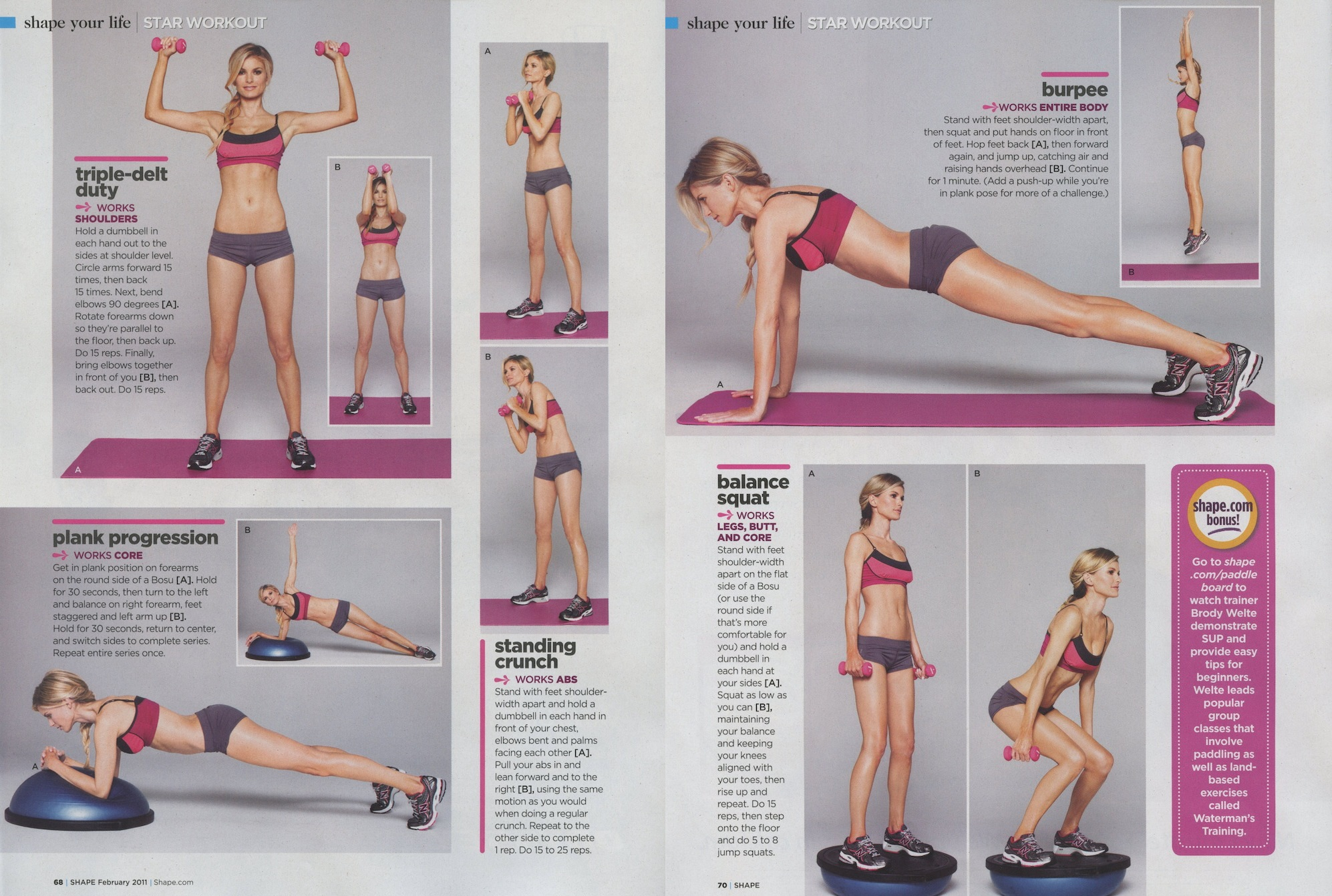 Marisa Miller Body Fitness Workout